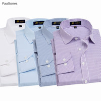 schwarze baumwollhemden china großhandel-Herbst-Qualität Langarm-Kleid Shirts Cotton White Black Classic Social Business Shirt Mann China-Bluse Paul Jones
