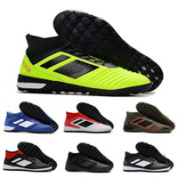Wholesale flat tango shoes for sale - Group buy Predator Tango TF mens Flat Trainer soccer shoes Indoor football boots Athletics Discount Sneakers Size