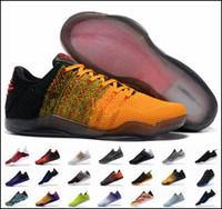 outlet store fcbe5 ffa6c Vendita a buon mercato kobe 11 scarpe da basket basse sportive per uomini  di alta qualità KB 11s mentalità 3 3M scarpe da ginnastica rosse vino nero  7-12