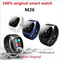 Wholesale mp3 trackers - Smart Watch M26 Bluetooth Sport Waterproof Smartwatch With Dial SMS Remind MP3 Pedometer for IOS Android PK watch dz09 gt08