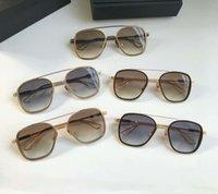 braunes system großhandel-Coole Herren SYSTEM ONE Sonnenbrille Gold / Brown Sonnenbrille Sonnenbrille Eyewear Driving Glasses Fashion Neu im Karton