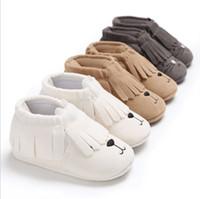 Wholesale Newborn Close - 2018 Soft baby shoes newborn Tassel Moccasins Girls Prewalker Boy Girl Toddler Solid Colour Tassel Shoes Moccasin 0-18M free ship