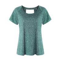 grüne sportkostüme großhandel-Quick Dry Sportswear Gym Leggings Female T-Shirt Kostüm Fitness Strumpfhosen Sport Anzug Grün Top Yoga Frauen-Trainingsanzug