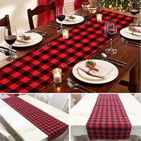 família de mesa venda por atacado-Corredor da tabela da manta para a decoração de mesa de natal jantares da família ou encontros interior partido ao ar livre decoração do casamento 33 * 274 cm wx9-978