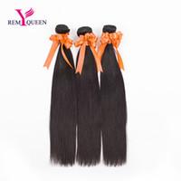 ingrosso queen vergine remy capelli malesi-Dream Remy Queen Malese 8A Virgin Hair 3 impacchetta molto Colore naturale Diritto 100g / Trama