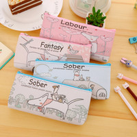 Wholesale large pencil case cosmetic bag for sale - Group buy Cute Cartoon Dog Pen Bag Large Capacity Storage Pencil Case Creative Pencil Bag Cute Make Up Cosmetic Bag Free DHL