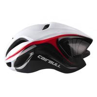 Wholesale safety cap helmet - Bicycle Helmet Cycling Safety Cap Road Bike Reduce Wind Resistance 17 Ventilation Holes eps Integrally-moldes 4d helmet