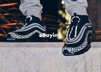 logotipos de zapatos para correr al por mayor-2018 New Arrive 97 Reflective Logo 3M Zapatillas para correr para hombre Cojín Negro Rojo Edición de aniversario Zapatillas de deporte 97S Deportes Jogging Entrenadores 40-46