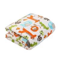 cobertores de camada dupla venda por atacado-Cobertor do bebê Camada Dupla Coral Velo Respirável Impressão Fleece Melhor Presente Registro para o Príncipe e Princesa