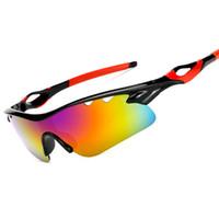 ver gafas al por mayor-Gafas de ciclismo Gafas Polaroid Gafas de visión nocturna Gafas de sol UV Gafas de sol protectoras Deportes Equitación Running Ultra Light