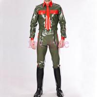 d5f85e8f3c2072 rubber pants men Canada - sexy latex uniform style pants RUBBER LATEX  trousers costume