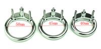 ingrosso accessori gabbia di castità-Cintura maschio castità accessori cazzo gabbia metallo anello cazzo adulto per castità in acciaio inox CB6000 diventi adulti giocattoli per uomo