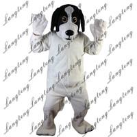 köpek kostüm çocuğu toptan satış-2018 Yeni yüksek kalite Siyah ve Beyaz Köpekler maskot kostümleri yetişkinler için sirk noel Cadılar Bayramı Kıyafet Fantezi Elbise Suit Ücretsiz Shipping112
