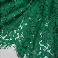 algodão rendas vestidos de noiva venda por atacado-Novo Design 1 .5 * 1 .5 M Lash bordados rendas Tecidos Cotton Cord Francês Lace Tecido Guipure Nigéria Africano laço para o vestido de casamento
