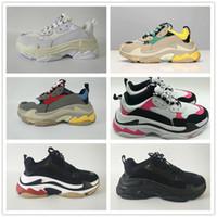Wholesale fashion running shoes for women for sale - Group buy Fashion Paris FW Triple S Triple S Sneaker Casual Luxury Dad Shoes for Men s Women Beige Black Sports Tennis Running Shoe size