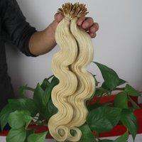 en iyi sarışın uzantılar toptan satış-Vücut Dalga I-ucu Önceden Bağlanmış Saç Uzantıları 100 s 613 Sarışın Brezilyalı Olmayan remy Saç Ön-bağlı 100 gram I-ucu En kaliteli saç