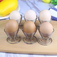 tasse bouillante achat en gros de-Printemps Bouilli Oeufs Titulaire En Acier Inoxydable Oeuf Braconniers Fil Plateau Egg Rack Tasse Cuisine Cuisine Outils WX9-509