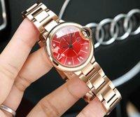 Discount white ceramic rose gold watches women - women luxury Watch ballon watch 33mm rose gold steel band swiss Movement women V6 factory movement white Wristwatches Waterproof