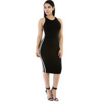 1c0e928e8a0 Bonne qualité Mode d été femmes Tight Dress Casual O-cou à manches longues  Appliques robes Sexy Bodycon Bandage Genou Longueur Robe