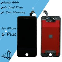 Wholesale Touchscreen Frame - LCD Touchscreen Full Replacement Screen Digitizer with Frame Assembly for iPhone 6 Plus 6plus 5.5 inch Black White
