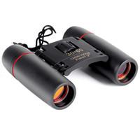 Wholesale Bird Hunting - Mini Binoculars 30X60 Folding with Night Vision Binoculars Zoom Optical Len Telescope for outdoor bird watching travelling hunting camping