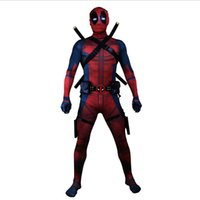 Wholesale heroes theme - Family Cosplay Clothing  Theme Costume Skinny Suit Men Halloween Funny Cosplay Clothes Free Shipping
