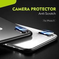 iphone temperli gözlük toptan satış-2.5D Arka Kamera Lens iPhone XS Max XR için Esnek Yumuşak Temperli Gözlük Anti Scratch iPhone için Yumuşak Fiber Ekran Koruyucular XR