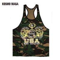 Wholesale Yellow Striped Tank - Kosmo Masa 2017 Golds Mens Fitness Muscle Tank Tops Bodybuilding Singlet Camouflage Men 'S Stringer Tank Top Vest Mc0274