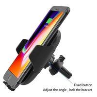 iphone luftentlüftung großhandel-2018 neues C10 / C9 QI schnelles drahtloses Auto-Ladegerät 10W automatisches Infrare Induktions-Entlüftungsöffnungs-Auto-Telefon-Halter für iPhone 8 Plus X Samsung Xiaomi
