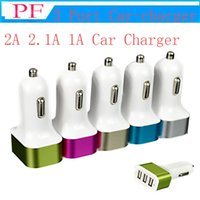 Wholesale chinese socket adapter resale online - Universal Triple USB Car Charger Adapter USB Socket Port Car charger For iPhone Samsung Ipad A A A Car Charger