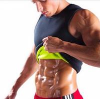 körper schlankere weste großhandel-Slimming Belt Männer Abnehmen Weste Body Shaper Neopren Bauch Fettverbrennung Shaperwear Taille Schweiß Korsett Gewichtsverlust