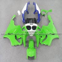 zx7r 1997 grün großhandel-23 farben + 5 Geschenke grün blau motorrad Verkleidung Für Kawasaki ZX7R 1996 1997 1998 1999 2000 2001 2002 2003 ABS kunststoff kit