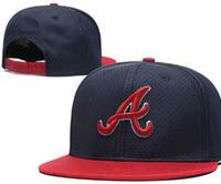 braves snapback großhandel-Top Qualität Günstige Snapback Caps klassische Knochen Baseballmütze Gestickte Team Größe Fans FlatCurved Brim Hats für Erwachsene Braves Hut Mütze