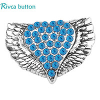 imitation jewelery NZ - 2018 Wholesale Rivca Snap Button Jewelry DIY 18mm butterfly heart noosa Cute Gift Snap Button Fit Girl Women fashion Bracelet jewelery