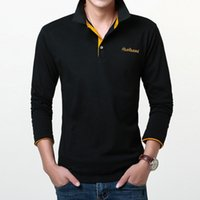 Wholesale long polos for sale - 2017 Fashion Brands Polo Shirt Embroidered reathable Casual Polos Long Sleeve Polo Shirts For Men Slim Fit Size xl