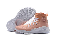Wholesale youth skis - MVP Currys 4 Flushed Pink colorway Mens Basketball Shoes lovable designer Sneakers lush Pink Boys Athletics Youth Training Sports Shoes