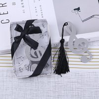 Wholesale books label - Sliver Music Note Bookmark Vintage Chinese Ducument Books Markers Label Stationery School Gifts for Students