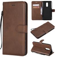 q fall großhandel-Brieftasche für LG Stylo 4 Q Stylus Flip Back Cover reine Farbe PU Leder Handy Taschen Coque Fundas