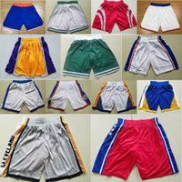 Wholesale flashing pants - BASKETBALL SHORTS PANTS EMBROIDERED STITCHED JERESEY CAMISETA HIGH QUALITY HOME AWAY LEBRON JAMES KEVIN DURANT STEPHEN CURRY HARDEN IRVING