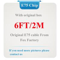 cabo usb de caixa de varejo para iphone venda por atacado-10 Pçs / lote, 100% Genuine Original 2 m / 6ft E75 Chip De fábrica de dados de raposa cabo do carregador usb para 5 6 6 s 7 8 plus x com caixa de varejo