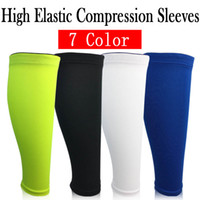 1 pcs Sports Compression Jambes Manches Professionnelle Shin Guard Chaussettes Chaud Running Football Basketball Veau Support Anti-Slip Respirant pour Hommes Femmes 4 Couleurs