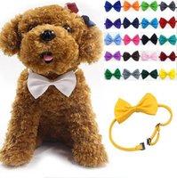 köpekler için yaylar toptan satış-Pet Köpek Bow Tie Boyun Aksesuar Kolye Yaka Köpek Parlak Renkli Pet Yay Mix Renk Ücretsiz kargo