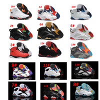 Wholesale Net French Lace - Air Retro 7 Men Basketball Shoes 7s Hare University Blue French Blue GMP Raptor Nothing But Net Bobcats MARVIN THE MARTIAN Cardinal Sneakrs