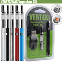 Wholesale Premium Vapor - 100%Original Vertex WAX Vaporizer Premium Kit 280mAh Vape Pen Airistech Airis W3 Daul Quatz Coils Herbal Vapor Tank e cigs 510 Atomizers DHL