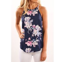 Wholesale Print Work Blouse - Women Blouses 2017 Casual Elegant OL Floral Blouse Slim Sleeveless Work Wear Blusas Feminina Tops Shirts Plus size