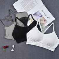 Wholesale Wholesale Japanese Underwear - No scar motion bras comfortable ladies sleep underwear without steel ring and Japanese style sling vest