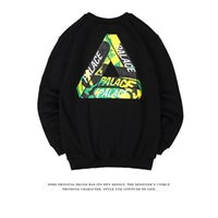 Wholesale Thick Sweatshirt Top Hoodie - Fashion autumn winter PALACE sweatshirt hoodies Tide brand PALACE Skateboards basic hoodie thick fleece casual sports tops black white black