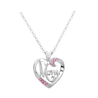 Shop simple diamond necklaces uk simple diamond necklaces free mothers day new womens heart shaped letter mom hollow necklace wild simple alloy diamond pendant necklace aloadofball Gallery