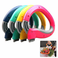 Wholesale Plastic Bag Carrier Handle - Mighty Handle, Home One Trip Grips Shopping Grocery Bag Holder Handle Carrier Lock Kitchen Tool - 4 pcs lot B296