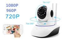 sistema de vigilancia de red al por mayor-720P / 960P / 1080P cámara de seguridad sistema de cámara de seguridad para el hogar vigilancia de red inalámbrica Wifi visión nocturna cámara CCTV IP monitor de interior